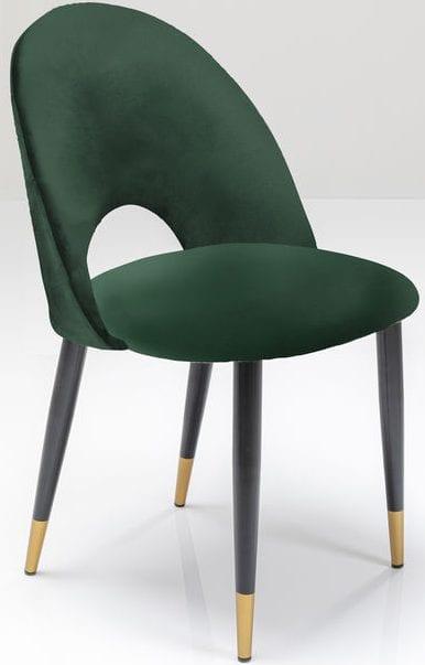 Kare Design Iris Velvet Green eetstoel 80078 - Lowik Meubelen