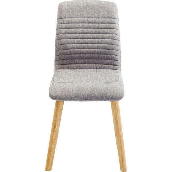 Kare Design Eetstoel Lara Gray 80862 Deze gestoffeerde stoel uit het Lara-assortiment maakt indruk met moderne elegantie en strakke, minimalistische vormgeving. Het is bij uitstek geschikt voor moderne inrichtingsstijlen. De zachte bekleding en de hoge rugleuning nodigen u uit om achterover te leunen en te ontspannen. Verkrijgbaar in andere kleuren en covers, of als barkruk. De stoelenserie is vervaardigd in Europa. De maximale belasting is 110 kg. - Lowik Meubelen