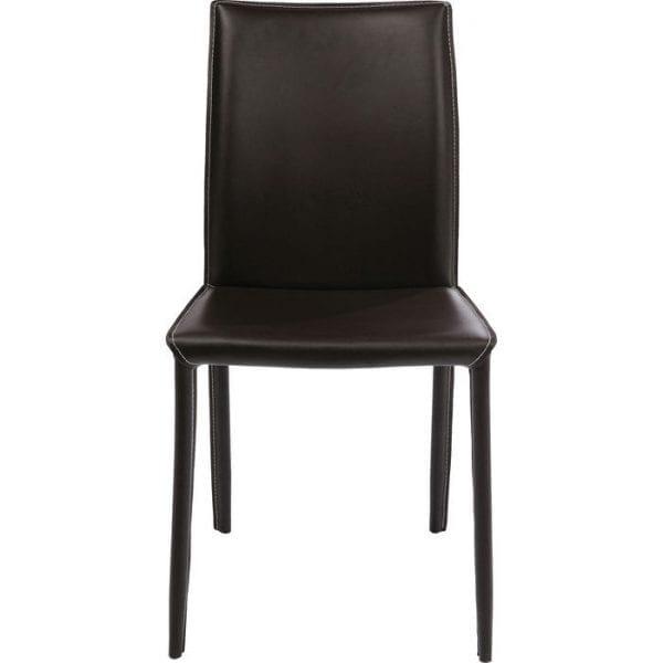 Kare Design Eetstoel Milano Brown 74638 Onze Milano-stoel combineert comfort en design - de Milano Braun-stoel is precies het juiste voor een mediterrane sfeer. Het subtiele ontwerp creëert een onopvallend effect. De stoel is gemaakt van staal en de zitting en rugleuning zijn bekleed met teruggewonnen leer, terwijl de poten zijn ingekapseld. Als een op zichzelf staand item speelt het een hoofdrol en het is ook een groenblijvende in de eetkamer. De stoel, die hier in koffie verschijnt, is ook verkrijgbaar in andere kleuren. Een heel bijzonder meubelstuk dat niet alleen uitstekend is om naar te kijken. - Lowik Meubelen