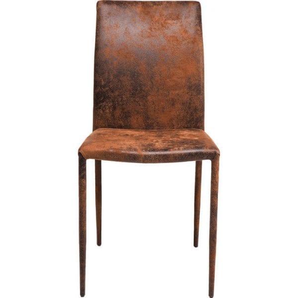 Kare Design Eetstoel Milano Vintage 78930 Stoel: de elegantie van duidelijk gedefinieerde lijnen. Deze stoel kenmerkt zich door een spannende combinatie van eenvoudig, minimalistisch design en de vintage lederen look. Een stijlvolle symbiose die twee in principe tegenstrijdige stijlwerelden combineert op een esthetisch hoog niveau. Een stijlvolle vintage look ontmoet slanke, strakke lijnen en vooral consistent vakmanschap dat voldoet aan alle verwachtingen op het gebied van design en kwaliteit. - Lowik Meubelen
