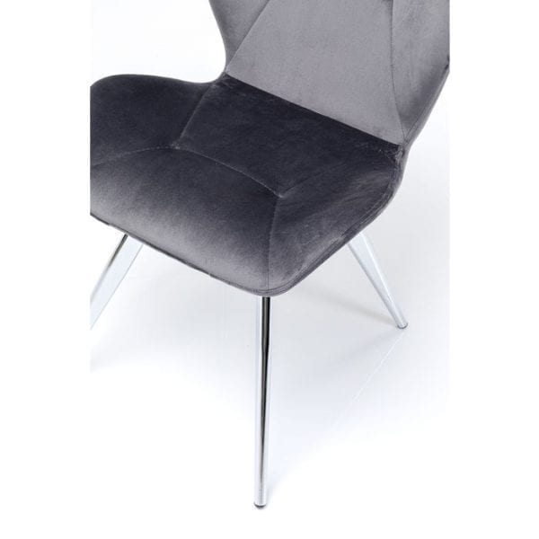 Kare Design Viva Grey Chrome eetstoel 84969 - Lowik Meubelen