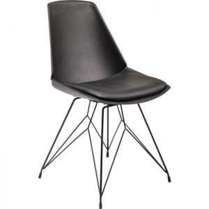 Kare Design Eetstoel Wire Black 82744 Stoel: esthetische reductie. Deze moderne gestoffeerde stoel viert de elegantie van het minimalisme. De gereduceerde zitting en rugleuning vloeien soepel in elkaar over. De lichte vulling biedt comfort. De zitschaal wordt ondersteund door een fijngetekend, filigraan frame dat geraffineerd en bijna gewichtloos lijkt. Deze stoel is zonder meer een verrijking voor elk modern ingericht interieur. Verkrijgbaar in andere kleuren en als barkruk. - Lowik Meubelen