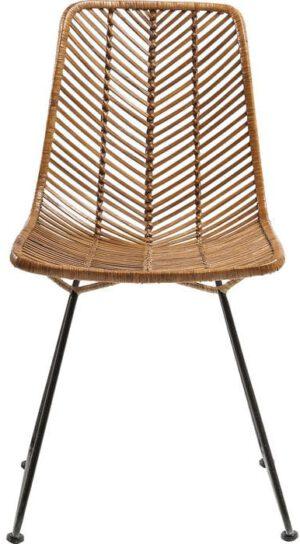 Kare Design Stoel Ko Lanta 79961 Deze mooie, lichte stoel heeft een filigraan metalen frame en een luchtige bekleding van natuurlijke rotan. Het geeft het gevoel van een populair vakantie-eiland bij u thuis. Ook beschikbaar in andere versies. - Lowik Meubelen
