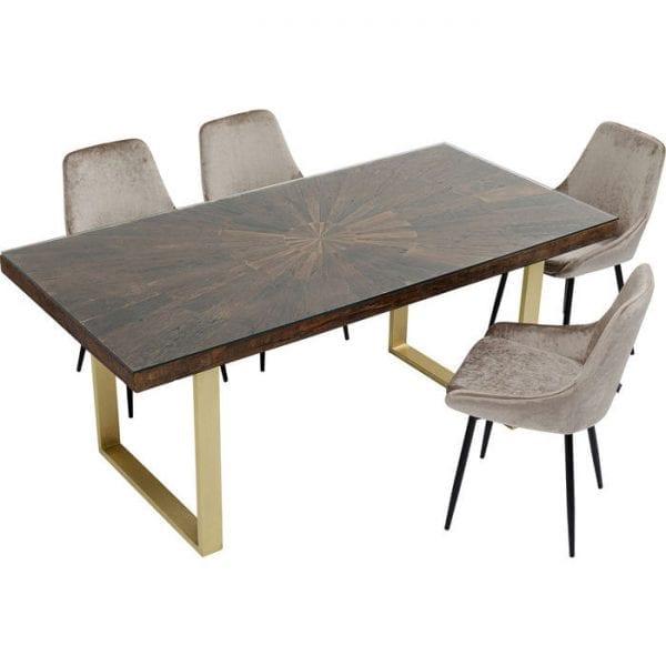 Kare Design Conley Brass 180x90 tafel 84880 - Lowik Meubelen