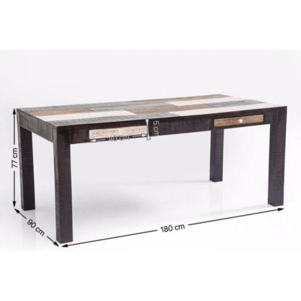 tafel Tafel Finca 180x90cm Kare Design tafels - 79485 - Lowik Meubelen