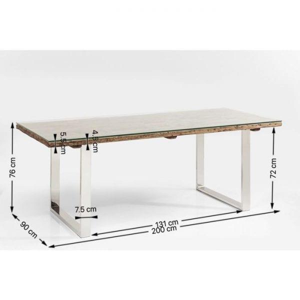 tafel Tafel Rustico 200x90cm Kare Design tafels - 82849 - Lowik Meubelen