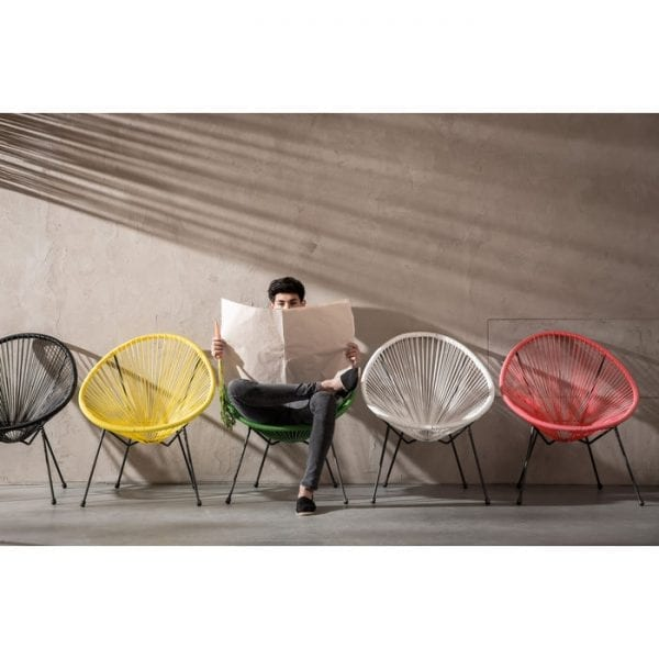 Kare Design Acapulco Black fauteuil 83986 - Lowik Meubelen