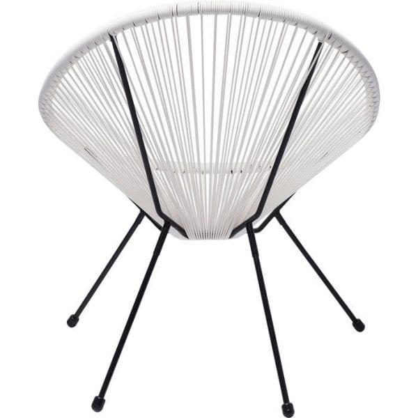 fauteuil Fauteuil Acapulco White Kare Design fauteuils - 83990 - Lowik Meubelen