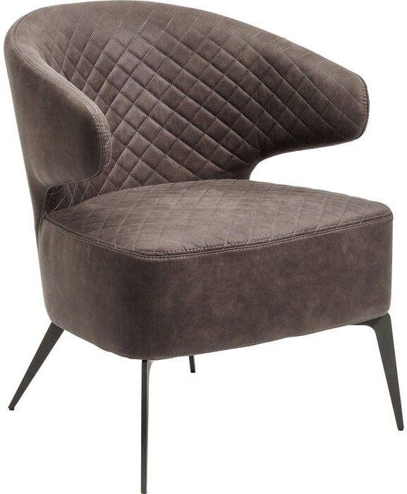 fauteuil Fauteuil Amsterdam Grey Kare Design fauteuils - 82776 - Lowik Meubelen