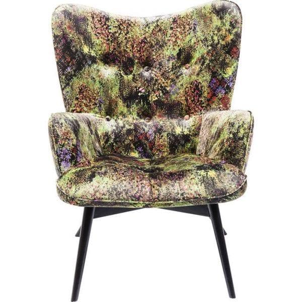 fauteuil Fauteuil Black Vicky Green Dschungel Kare Design fauteuils - 83057 - Lowik Meubelen