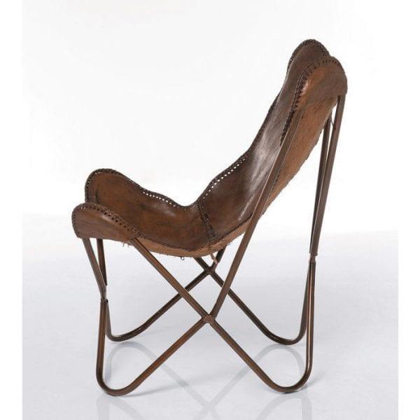 fauteuil Fauteuil Butterfly Brown Kare Design fauteuils - 73490 - Lowik Meubelen