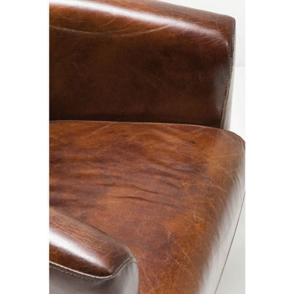 fauteuil Fauteuil Cigar Lounge Brown Kare Design fauteuils - 76948 - Lowik Meubelen