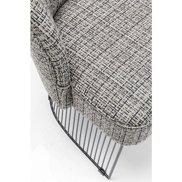 Kare Design Club Iceland Black White fauteuil 85160 - Lowik Meubelen