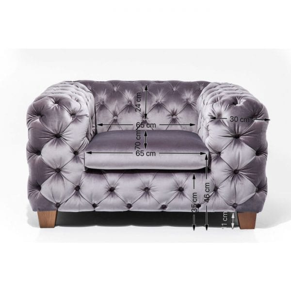 fauteuil Fauteuil Desire Grey Kare Design fauteuils - 79615 - Lowik Meubelen