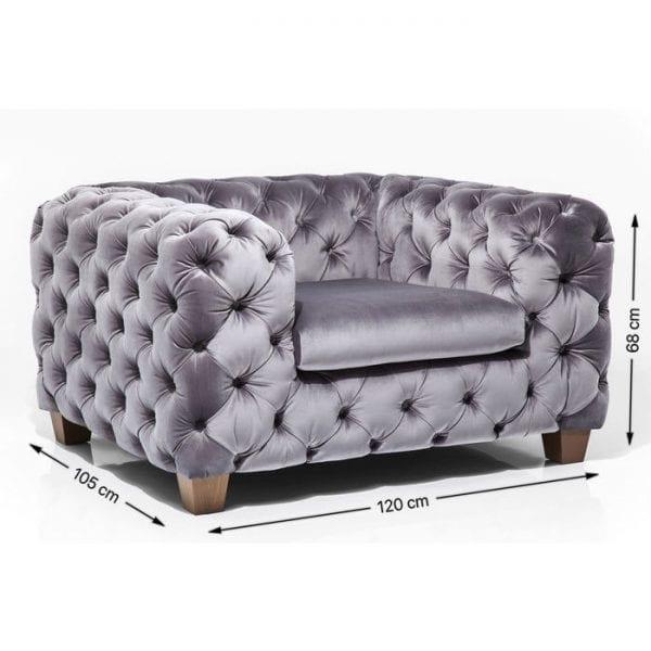 fauteuil Fauteuil Desire Velvet Khaki Kare Design fauteuils - 79617 - Lowik Meubelen