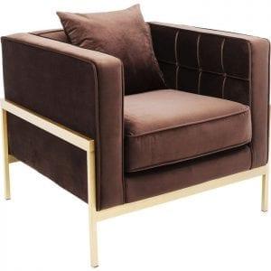 fauteuil Fauteuil Loft Brown Kare Design fauteuils - 83530 - Lowik Meubelen