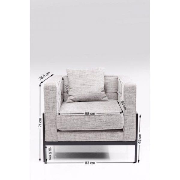 fauteuil Fauteuil Loft Salt & Pepper Kare Design fauteuils - 83140 - Lowik Meubelen