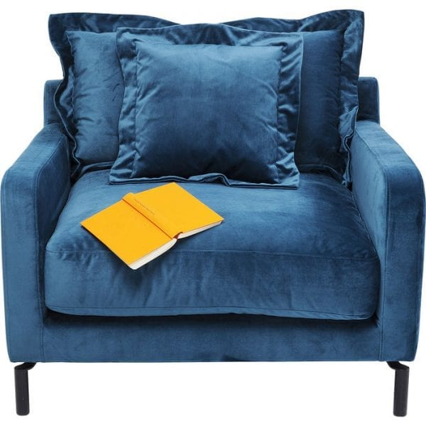 Kare Design Lullaby Bluegreen fauteuil 83683 - Lowik Meubelen