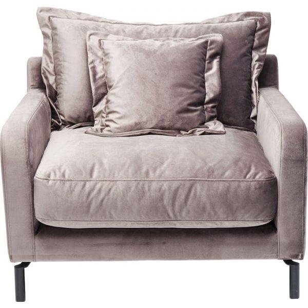 Kare Design Lullaby Taupe fauteuil 83686 - Lowik Meubelen