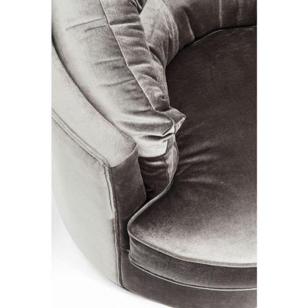 fauteuil Fauteuil Music Hall Grey Kare Design fauteuils - 83094 - Lowik Meubelen