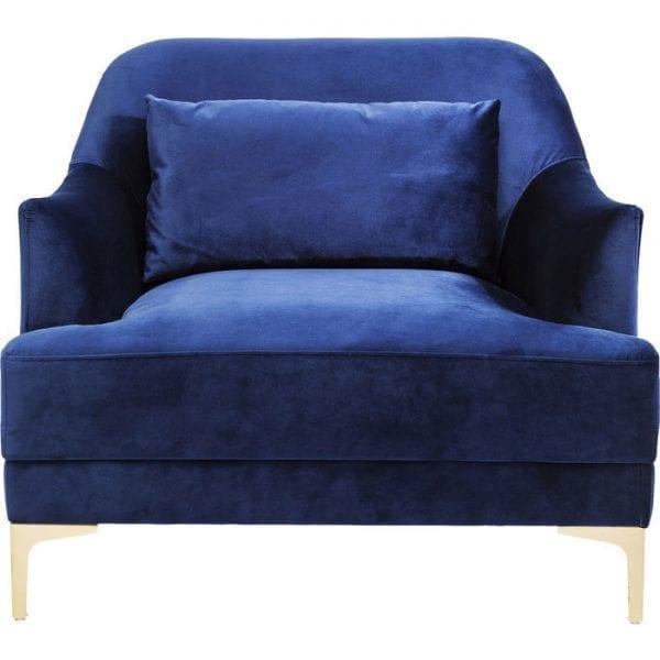 fauteuil Fauteuil Proud Blue Kare Design fauteuils - 82069 - Lowik Meubelen