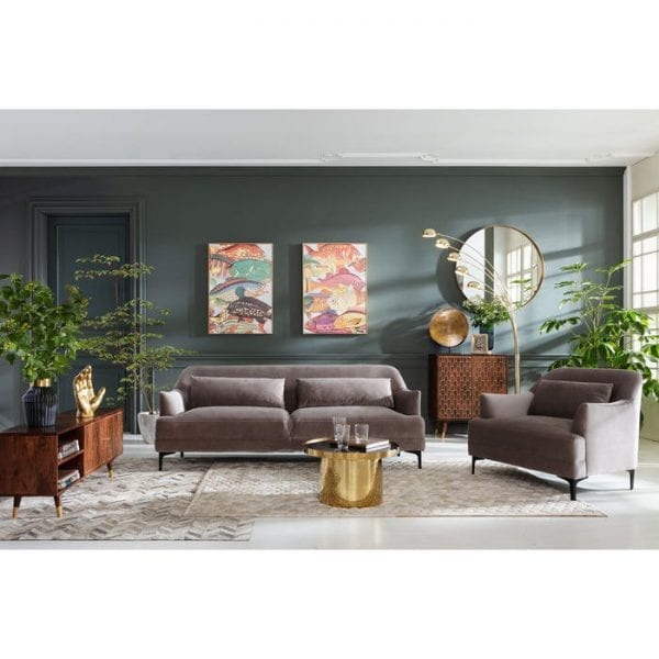 fauteuil Fauteuil Proud Grey Kare Design fauteuils - 83470 - Lowik Meubelen