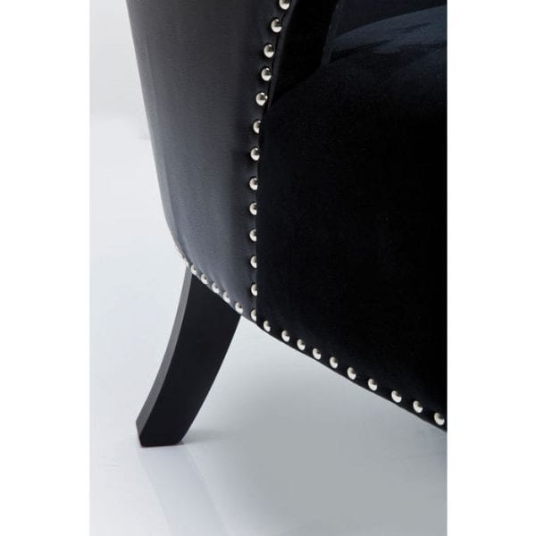 fauteuil Fauteuil Rivet Black Kare Design fauteuils - 78262 - Lowik Meubelen