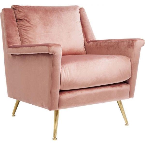 fauteuil Fauteuil San Diego Rose Kare Design fauteuils - 83092 - Lowik Meubelen