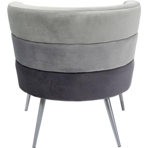 Kare Design Sandwich Grey fauteuil 84779 - Lowik Meubelen