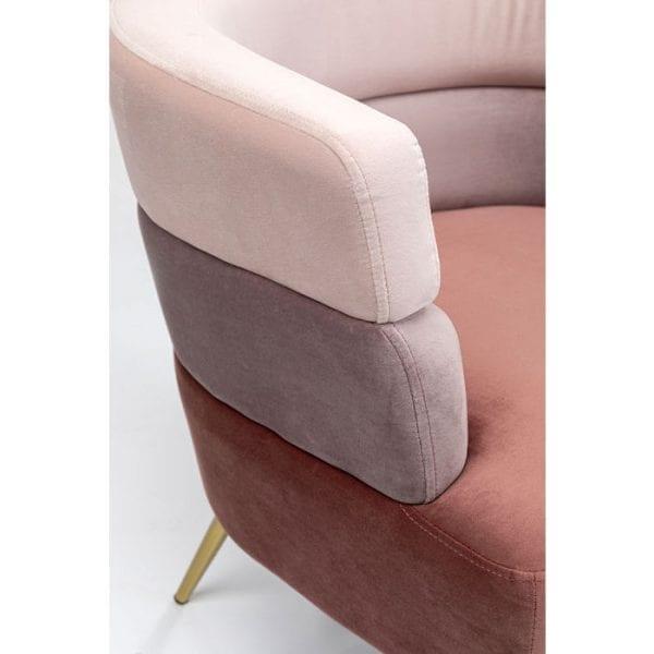 Kare Design Sandwich Mauve fauteuil 84780 - Lowik Meubelen