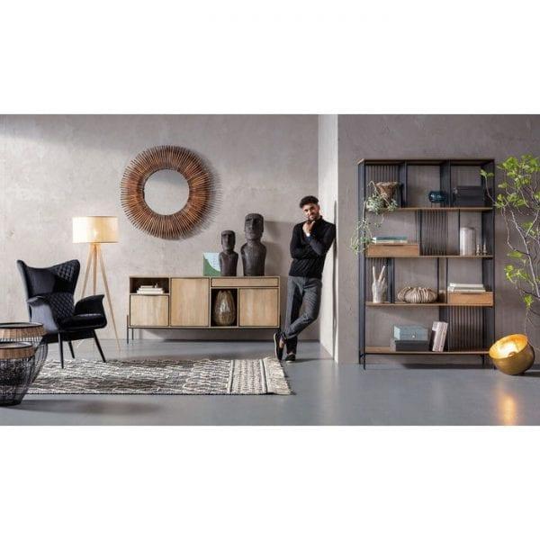 fauteuil Fauteuil Tudor Velvet Black Kare Design fauteuils - 84424 - Lowik Meubelen