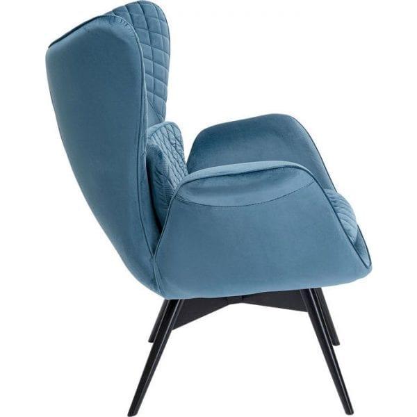 Kare Design Tudor Velvet Bluegreen fauteuil 84776 - Lowik Meubelen