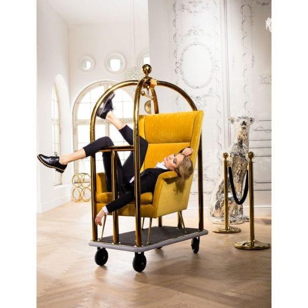 fauteuil Fauteuil Vegas Forever Yellow Kare Design fauteuils - 81573 - Lowik Meubelen