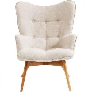 fauteuil Fauteuil Vicky Ecru Kare Design fauteuils - 82685 - Lowik Meubelen