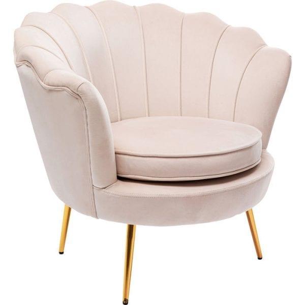 Kare Design Water Lily Beige fauteuil 85206 - Lowik Meubelen