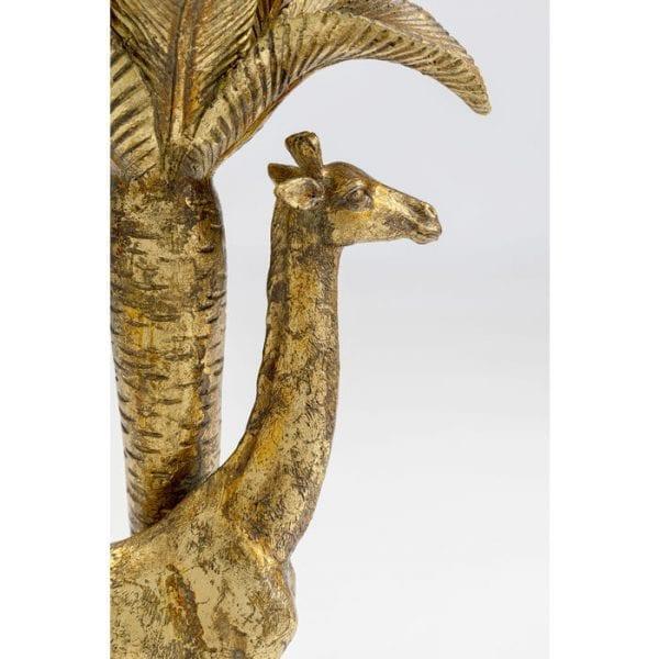 Kare Design Giraffe Palm Tree Gold 35cm kandelaar 51972 - Lowik Meubelen