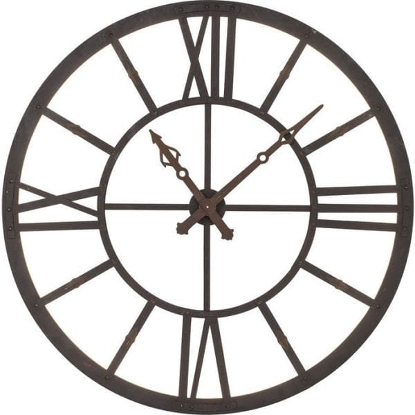 Wandklok  Factory LED 38729 In the course of time. Charismatic industrial design is enhanced by modern LEDs. The clock accordingly offers innovative and at the same time historical effects. Roman numerals, without back panel. Material: painted steel. Kare Design