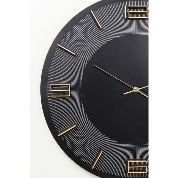 Wandklok Leonardo Black/Gold 52053 Wijzerplaat: vezelspaanderplaat van medium dichtheid (MDF) Gebeitst gelakt, aluminiumgelakt, achterpaneel: acrylonitrilbutadieenstyreen, wijzers: aluminiumgelakt, exclusief batterij AA LR6 1,5V Mignon Kare Design