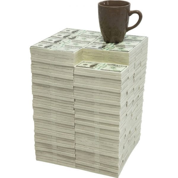 Kare Design Dollar poef 79192 - Lowik Meubelen