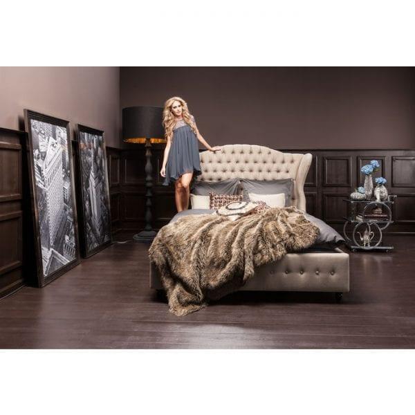 Kare Design City Spirit Linen Natural 180x200cm bed 78604 - Lowik Meubelen