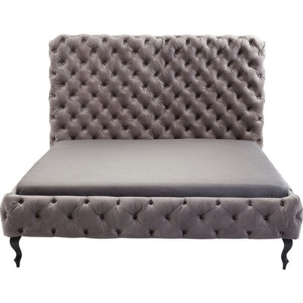 Kare Design Desire High Silver Grey 180x200 cm bed 81227 - Lowik Meubelen