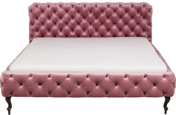 Kare Design Desire Velvet Mauve 180x200cm bed 83433 - Lowik Meubelen