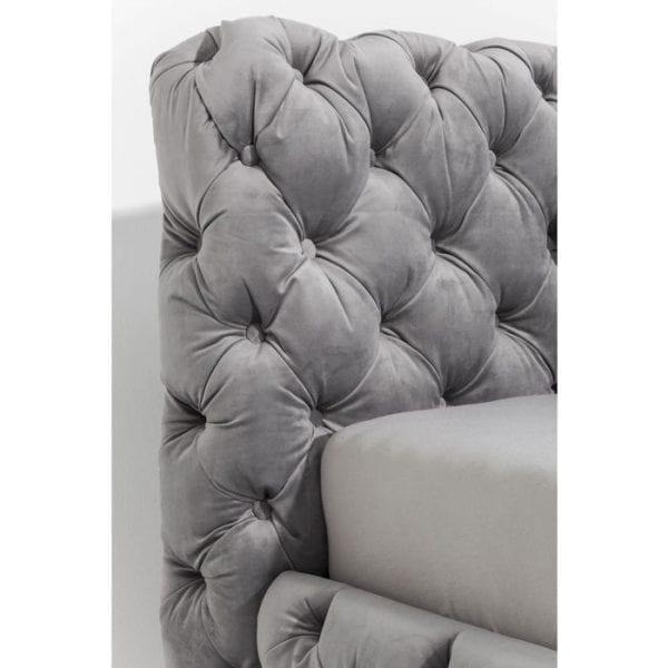 Kare Design Desire Velvet Silver Grey 160x200 cm bed 80635 - Lowik Meubelen