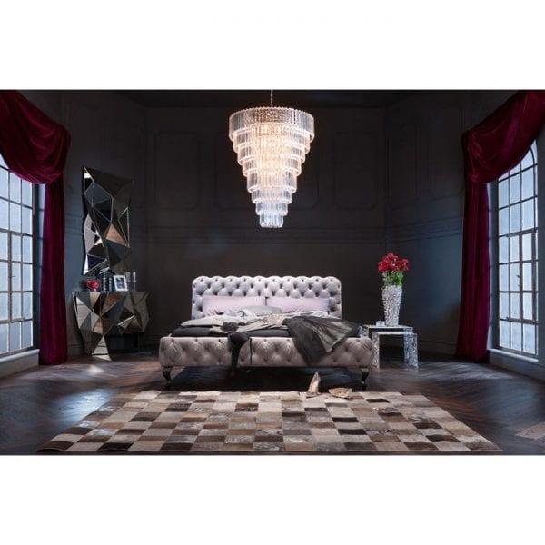 Kare Design Desire Velvet Silver Grey 200x200cm bed 81284 - Lowik Meubelen