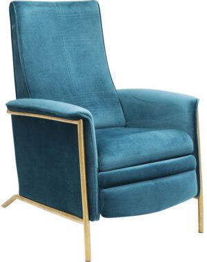 fauteuil Relaxfauteuil Lazy Velvet Blue Kare Design fauteuils - 83661 - Lowik Meubelen