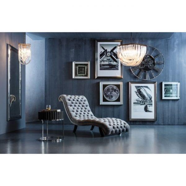 Kare Design Desire Velvet Silver relaxstoel 81040 - Lowik Meubelen