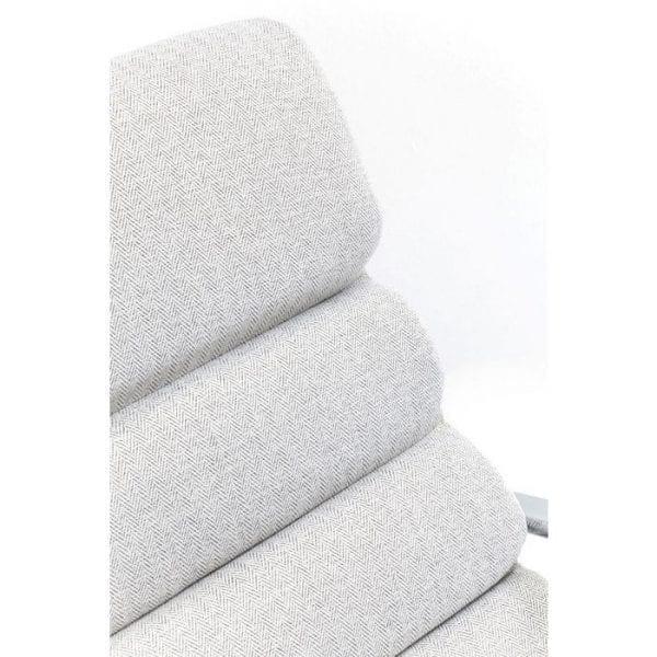 fauteuil Schommelstoel Manhattan Fabric Grey Beige Kare Design fauteuils - 82270 - Lowik Meubelen