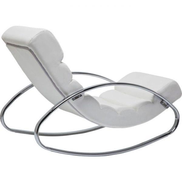 fauteuil Schommelstoel Manhattan White Kare Design fauteuils - 79273 - Lowik Meubelen