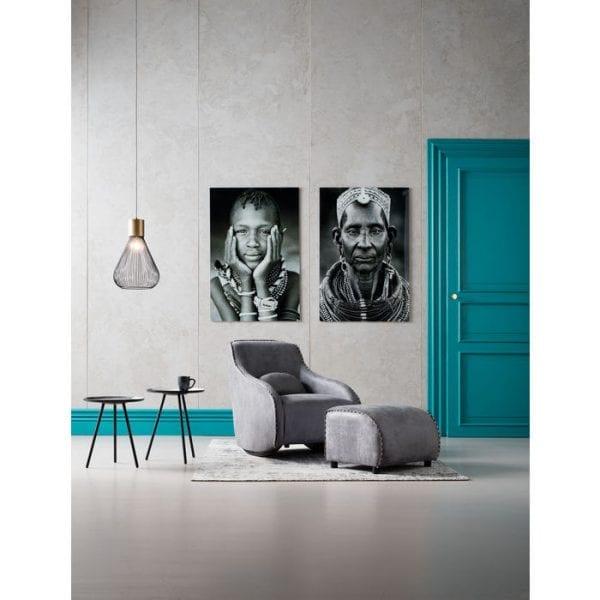 fauteuil Schommelstoel Swing Ritmo Vintage Grey Kare Design fauteuils - 79403 - Lowik Meubelen