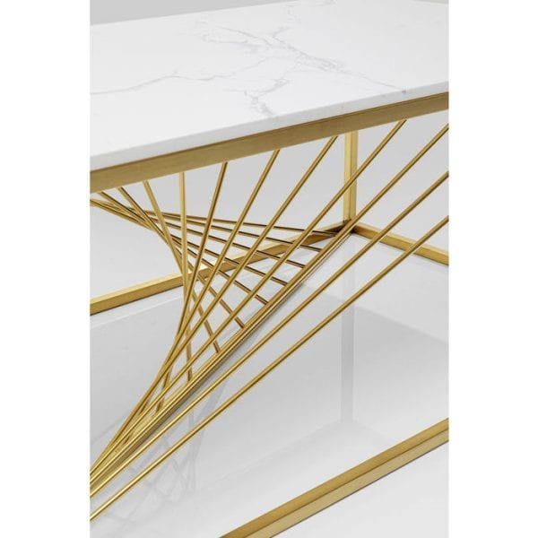 Kare Design Art Marble Glass 140x70cm salontafel 84837 - Lowik Meubelen